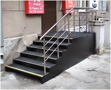 фото лестница из металлопроката