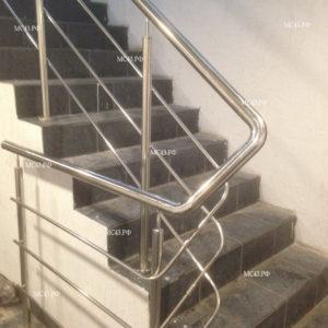 фото обвязанного пручня из нержавеющей стали