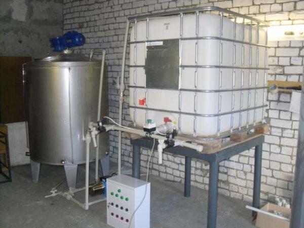 Резервуар для производства антифриза