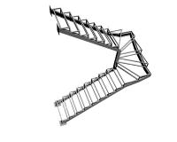 Каркас лестницы из металла Киров